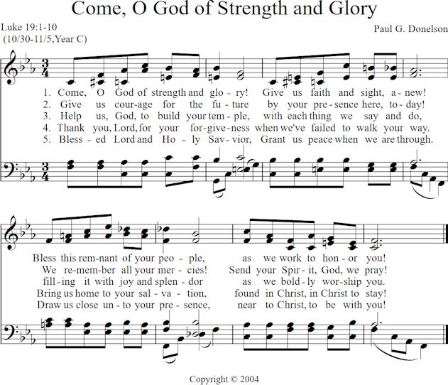 Come O God Of Strength And Glory