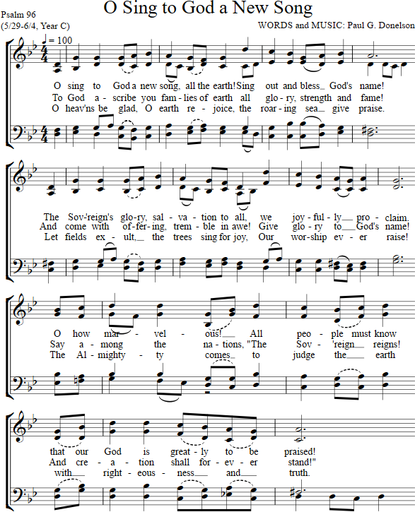 O Sing To God A New Song